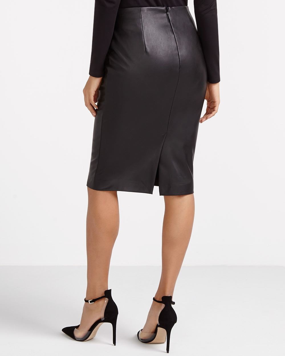 We've got leather skirts in mini, midi, wrap and skater styles in classic black as well as red, khaki and white. If it's a new out-out outfit you need, pick up a leather look mini in black and style it out with a lace bodysuit, and for a office look you won't ever wanna take off, our PU and faux leather midi skirts are perfect for tucking.