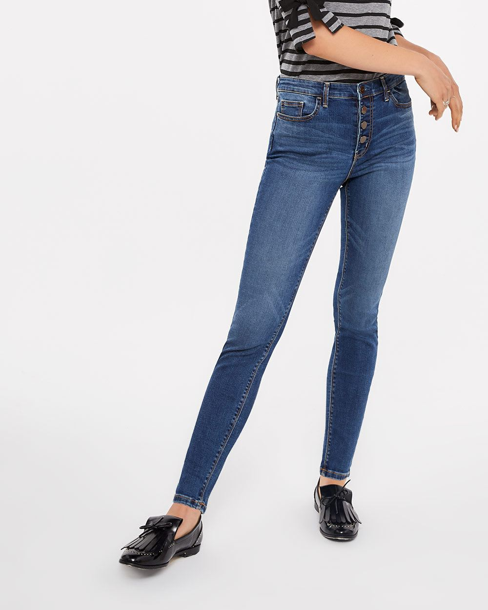 Tall Button Fly High Rise Jeans
