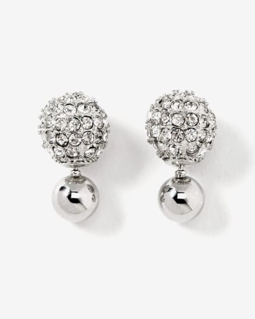 Front-back Rhinestone Earrings
