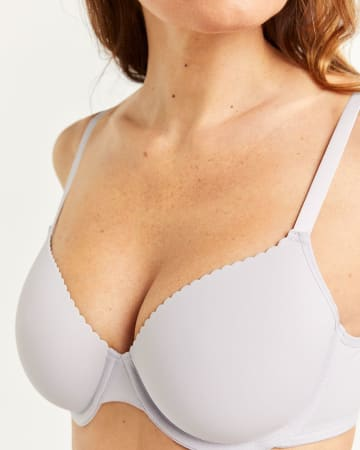 Scalloped Full Coverage Bra