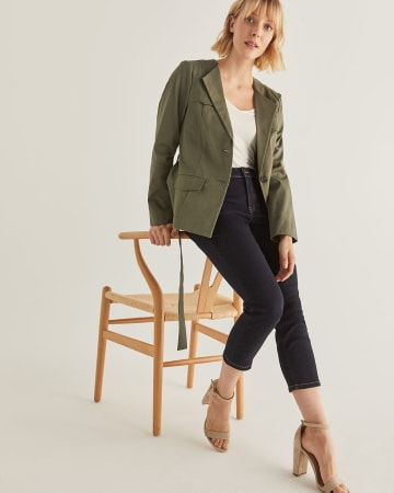 Cotton Utility Blazer