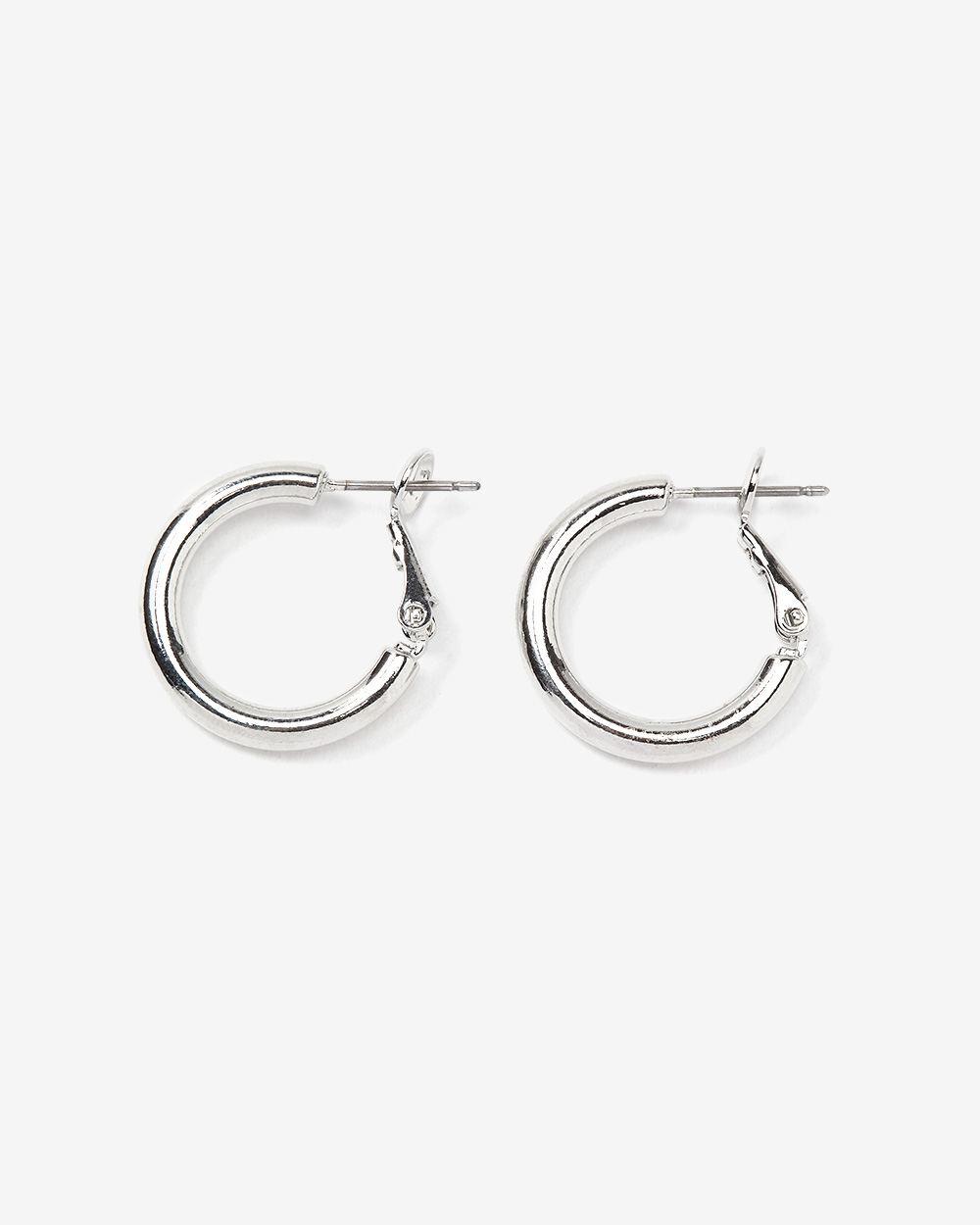 Small Silver Hoop Earrings