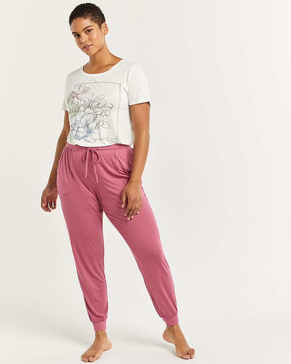 Pyjama Joggers with Drawstring & Pockets