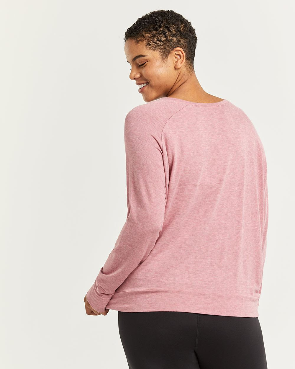 Hyba Front Knot Long Sleeve Tee