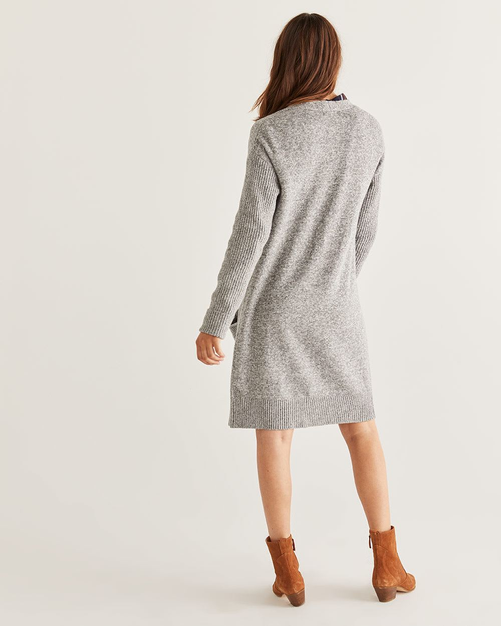 Long Open Cardigan with Pockets