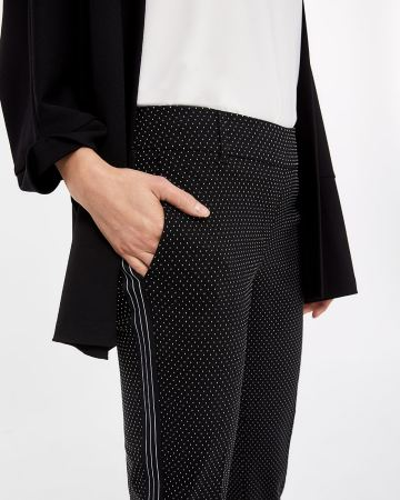The Petite Iconic Slim Leg Pants with Contrasting Band
