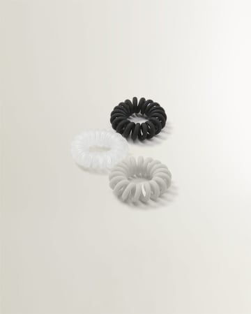 Set of 3 Chunky Coil Hair Elastics