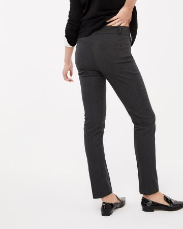 The Iconic Straight Leg Grey Melange Pants