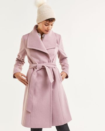 Shawl Collar Wrap Coat with Sash