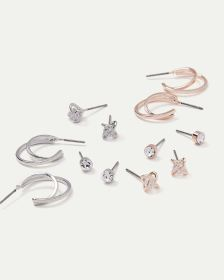 6-Pack Stud and Hoop Earrings