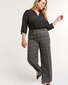 Wide Leg Plaid Pants