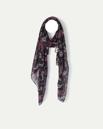 Paisley Print Oblong Scarf