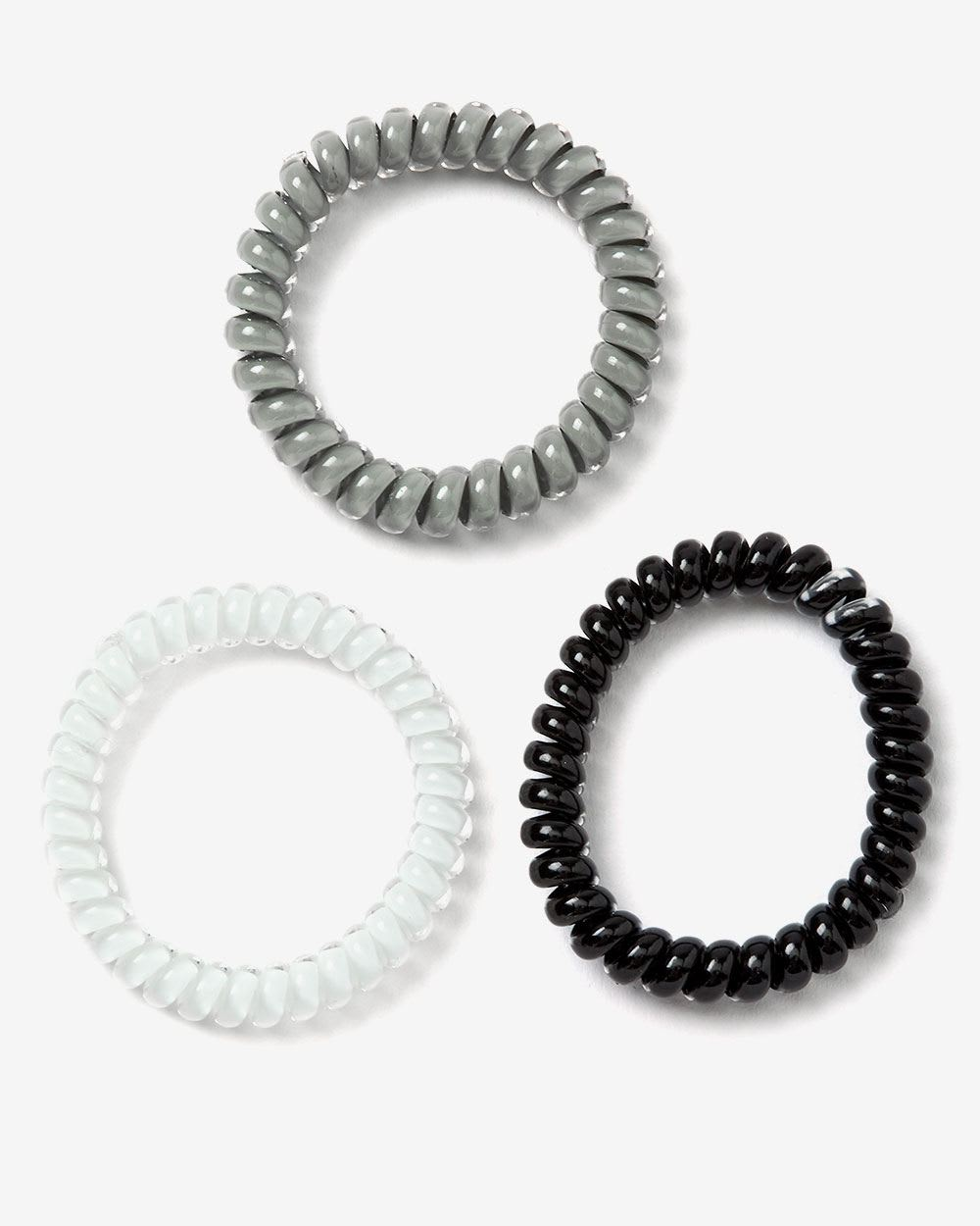 Set of 3 Small Spiral Hair Ties