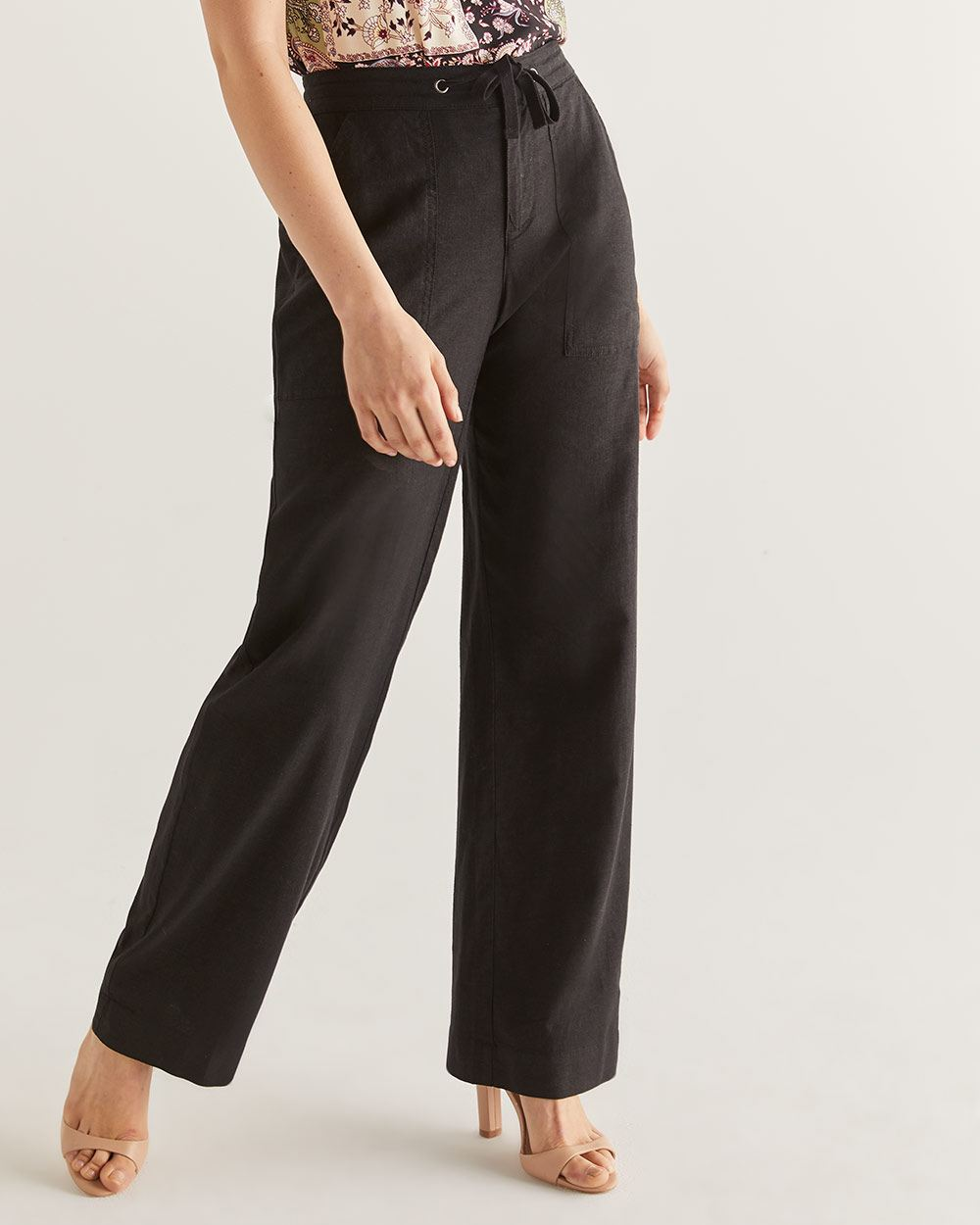 Linen-Blend Wide Leg Pants - Tall