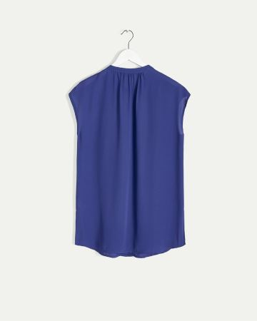 Collarless Short Sleeve Tunic