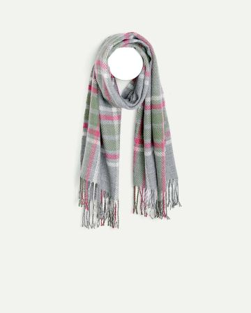 Green & Pink Plaid Scarf