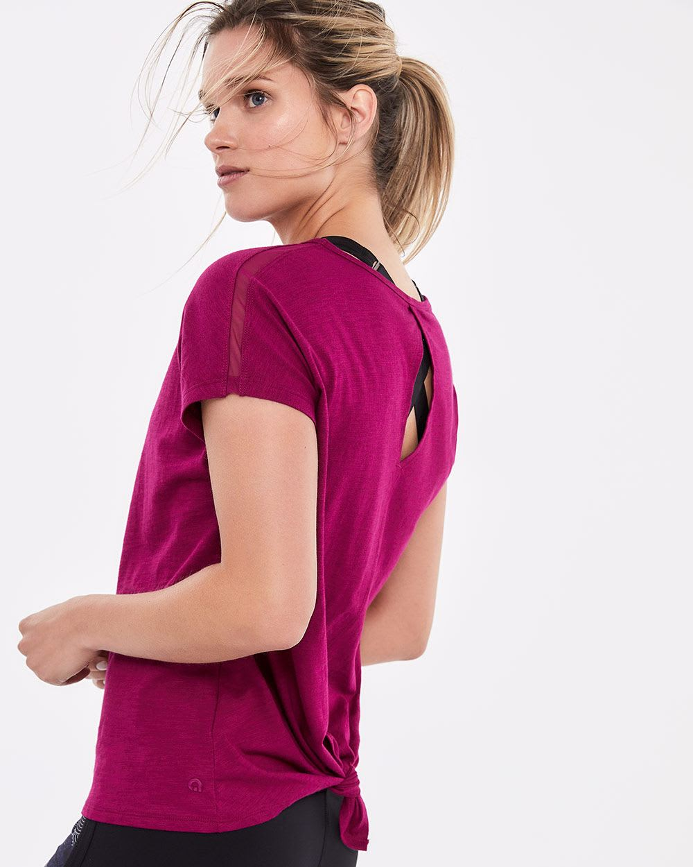 2540a3d013 Hyba Back Tie and Keyhole Tee