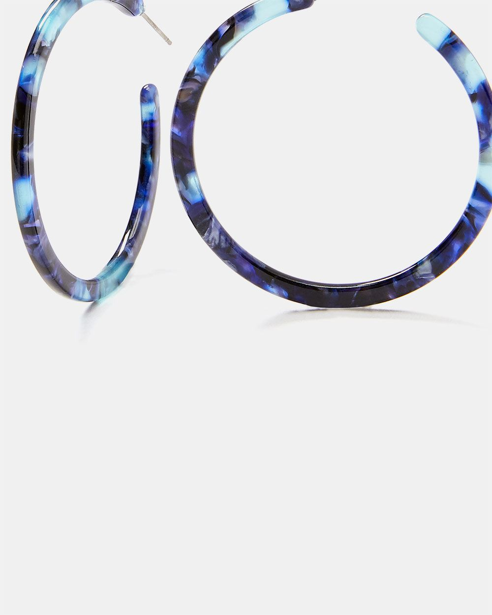 Black and Blue Acrylic Hoops