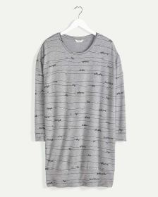 Long Sleeve Printed French Terry Sleepshirt