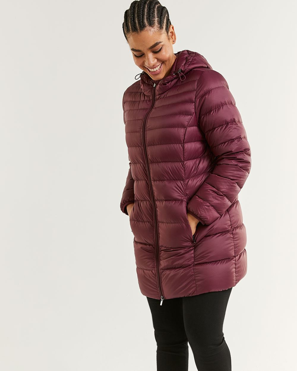 Long Lightweight Packable Down Jacket
