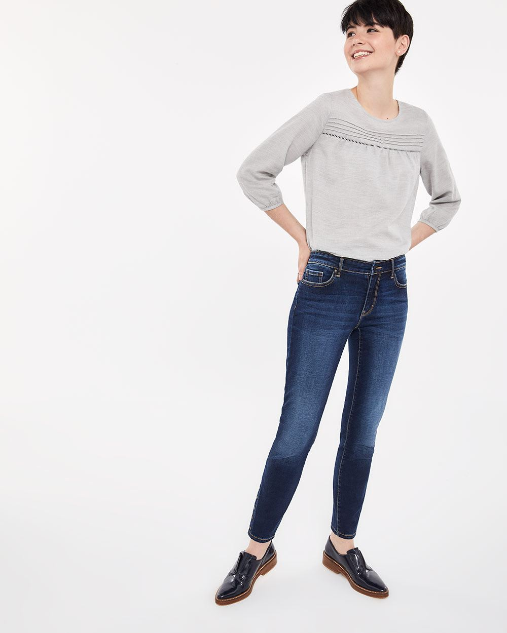 The Skinny Blue-Black Sculpting Jeans