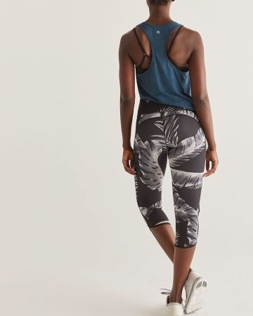 Hyba Printed Capri Leggings