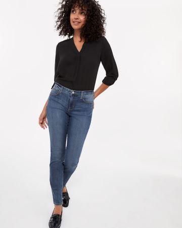 The Signature Soft Skinny Mid-Wash Jeans
