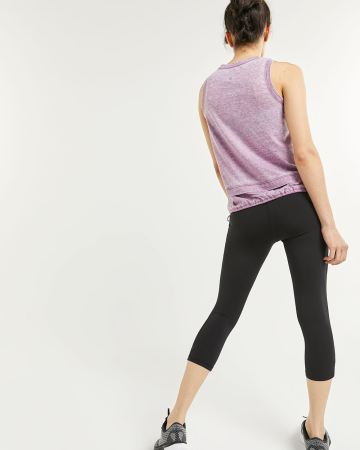Washed-Up Sleeveless Top with Ties Hyba