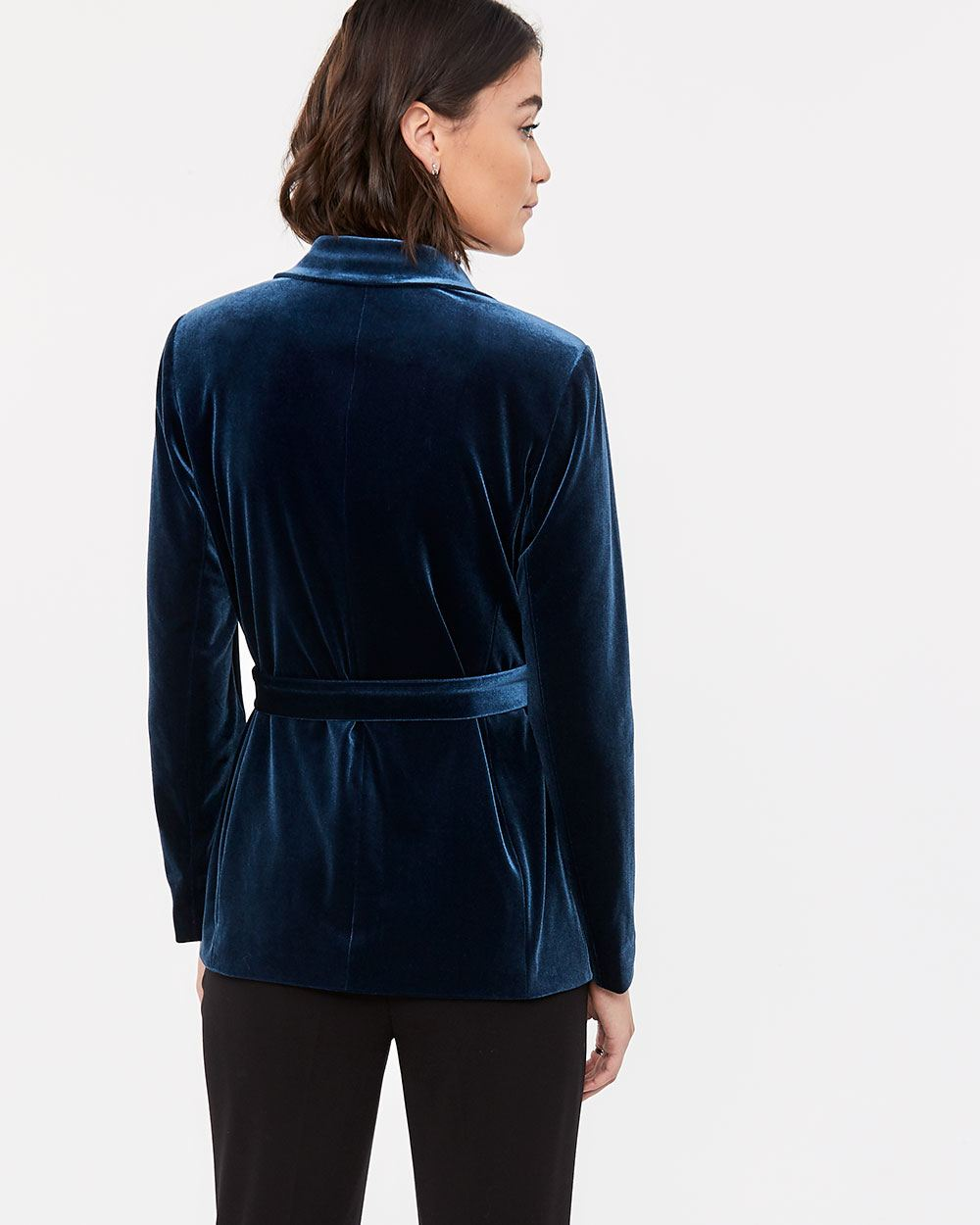 Velvet Blazer with Sash