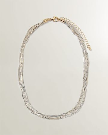 2-tone Snake Chain Necklace