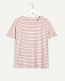 Short Sleeve Crew Neck Striped Pyjama Tee