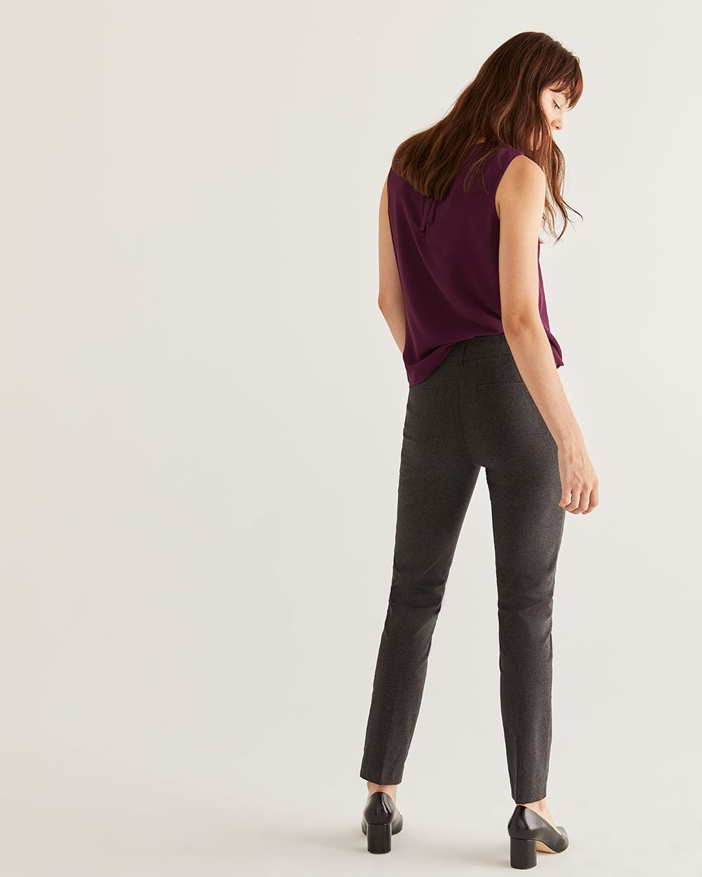 The Iconic Patterned Straight Pull On Pants - Petite
