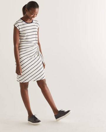 c5d79293ad0 Stripe Knotted Shift Dress
