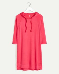 Hooded French Terry Dress Hyba