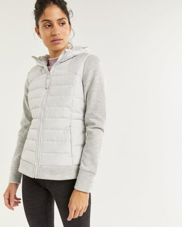 Hyba Mix Media Quilted Jacket
