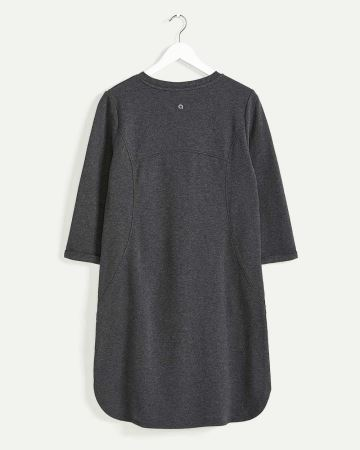 3/4 Sleeve Crew Neck Dress with Pockets Hyba