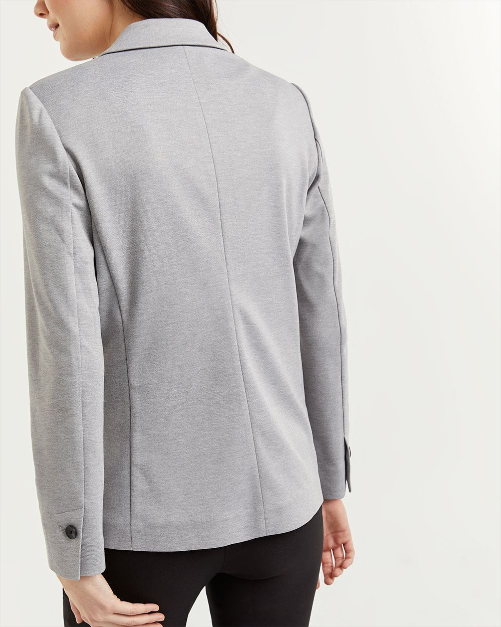 Notch Collar Pique Blazer