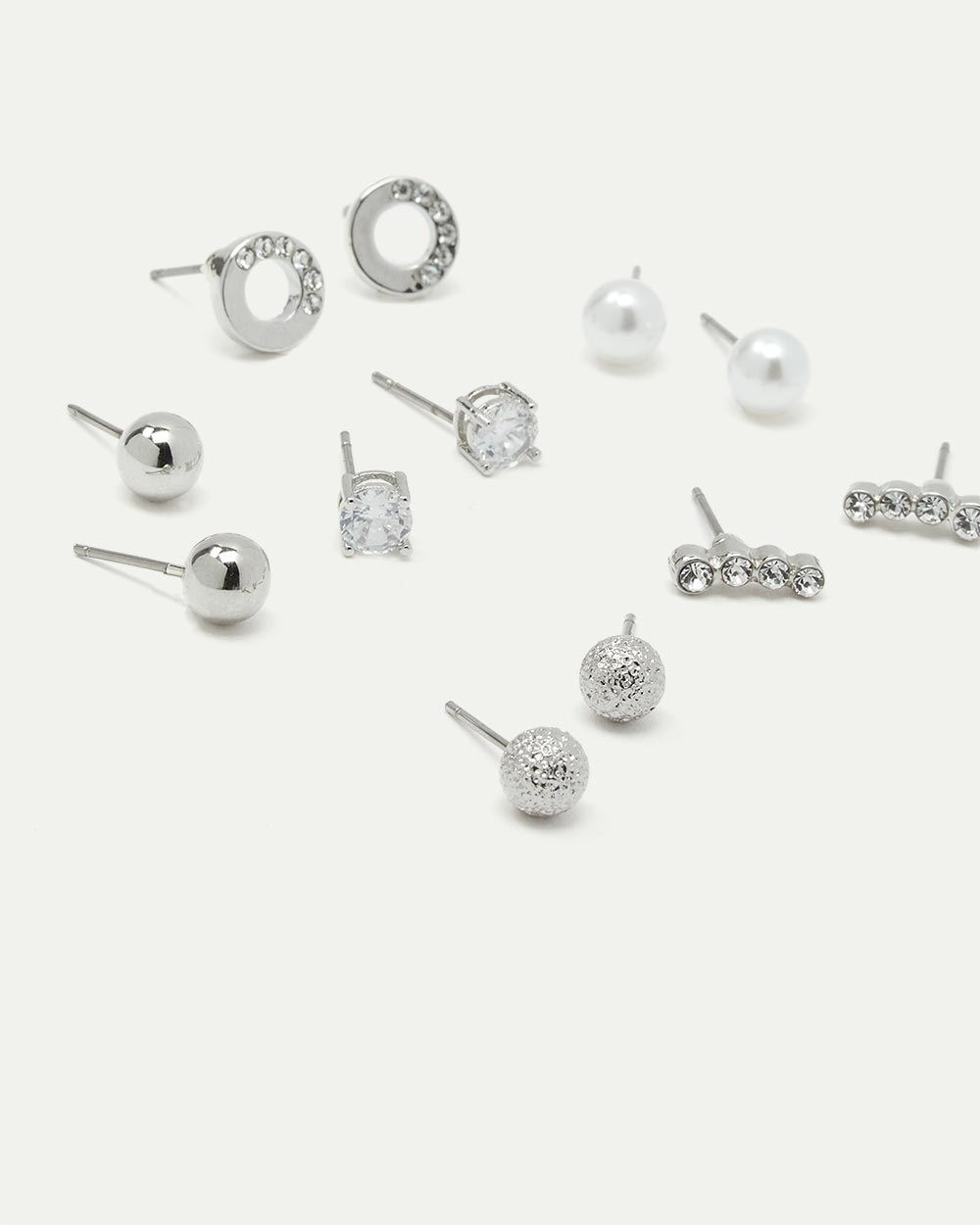6-Pack Rhinestone Stud Earrings