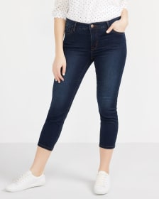 Dark Wash Cropped Jeans
