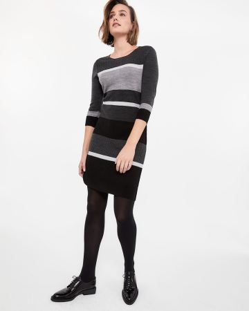Crew Neck Dress with Pockets