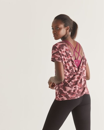 Hyba Wrap Back Printed Tee