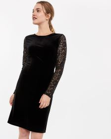 Velvet and Lace Dress