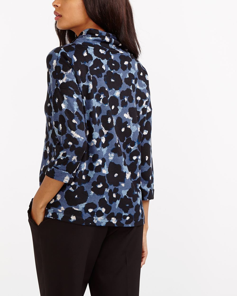 Cowl Neck Floral Top