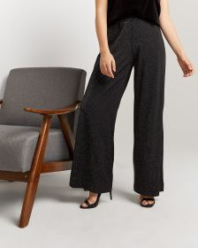 Shimmer Wide Leg Pull On Pants