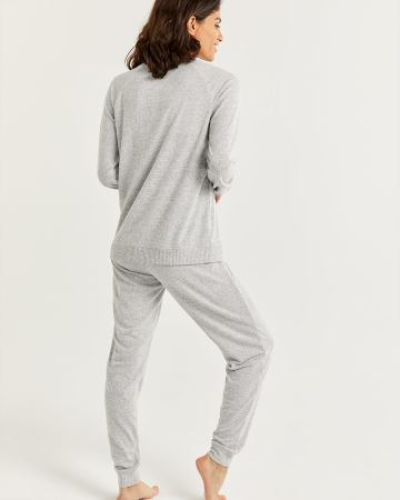 Raglan Sleeve Pyjama Set with Jogger Pants