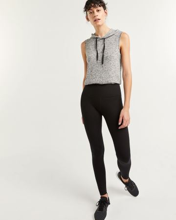 Black Cotton Namaste Yoga Leggings Hyba