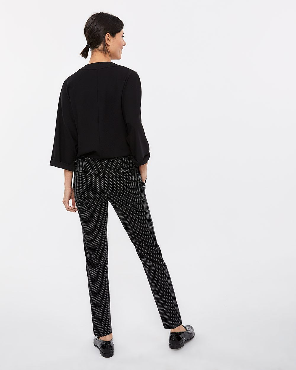 The Iconic Slim Leg Pants with Contrasting Band
