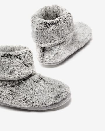 Faux Fur Bootie Slippers