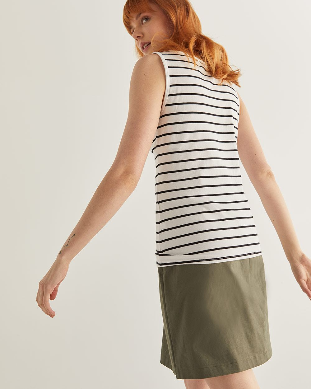 R-Essentials Striped Tank Top