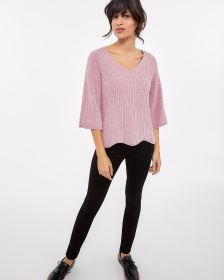 Pagoda Sleeve Scallop Sweater